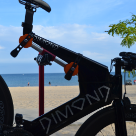 Image of Dimond Tri-Bike side-view and closeup
