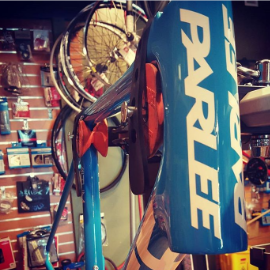 Image of bare Parlee frame in stand